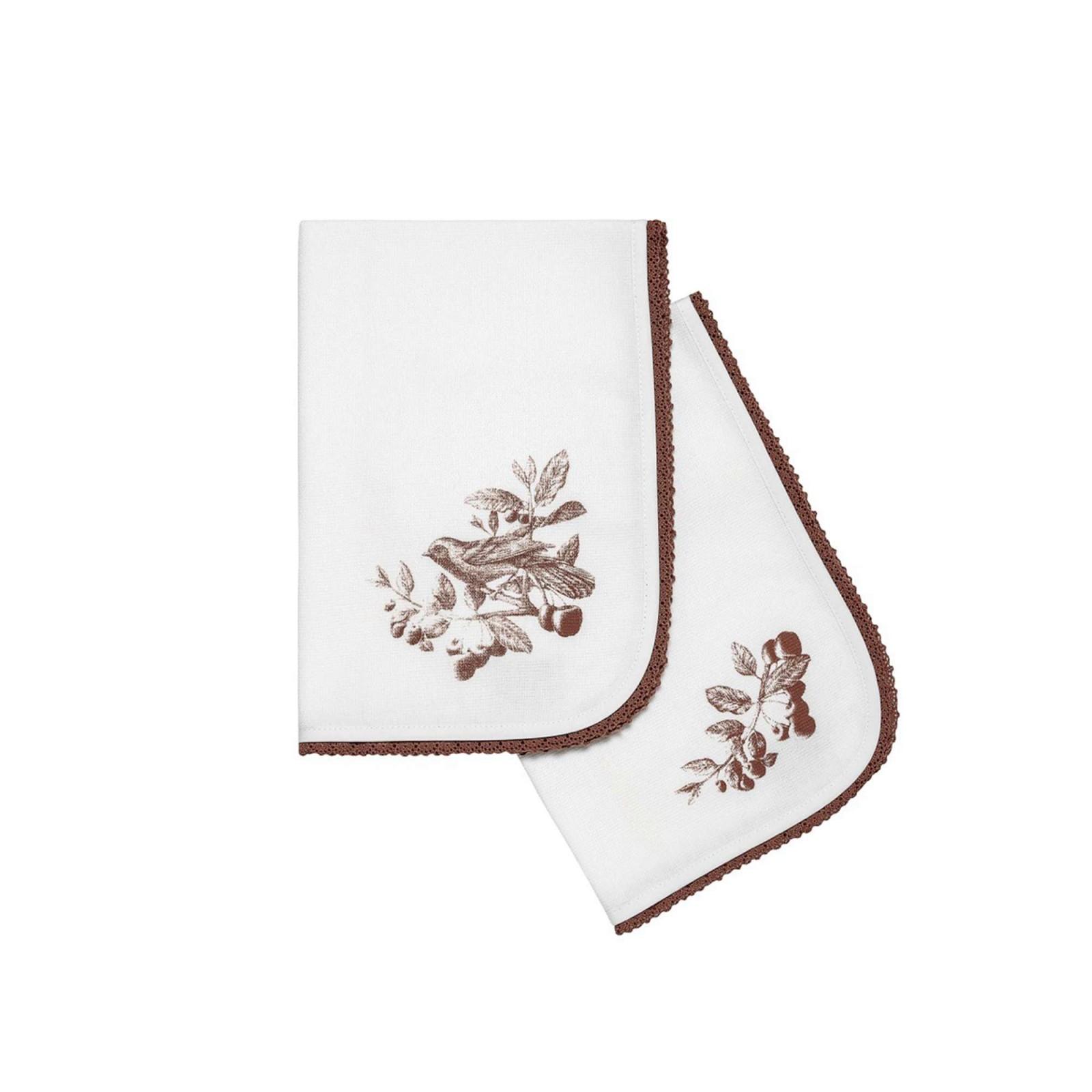 где купить {} Togas Кухонное полотенце Винтаж Цвет: Белый-Коричневый (40х60 см - 2 шт) по лучшей цене