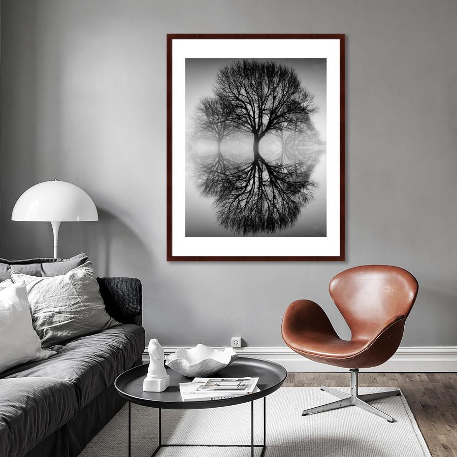 {} Картины в Квартиру Картина Дерево На воде (102х130 см) картины в квартиру картина вода деревья утро 102х130 см