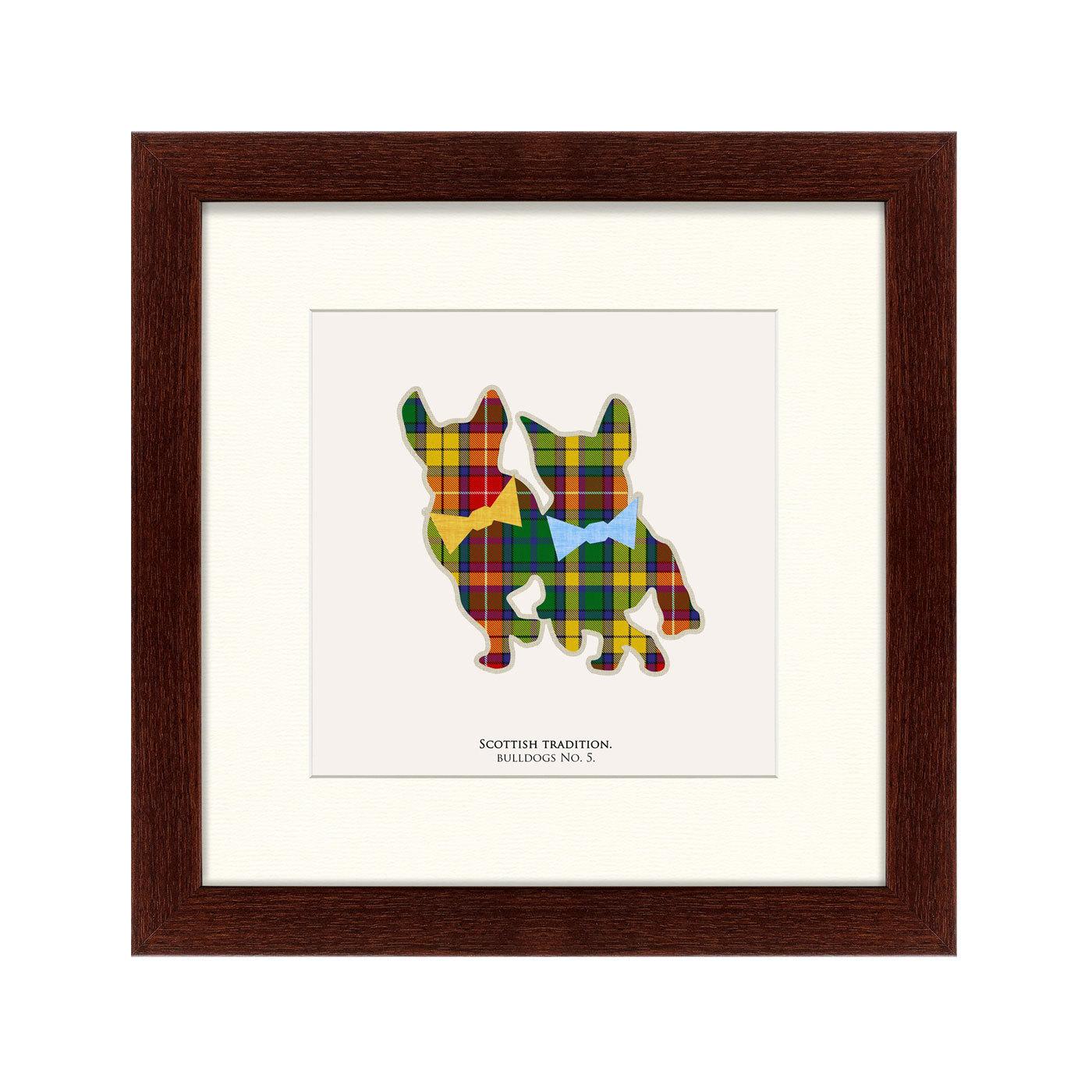 {} Картины в Квартиру Картина Бульдоги В Шотландской Клетке (35х35 см) картины в квартиру картина опасные домохозяйки 2 35х35 см