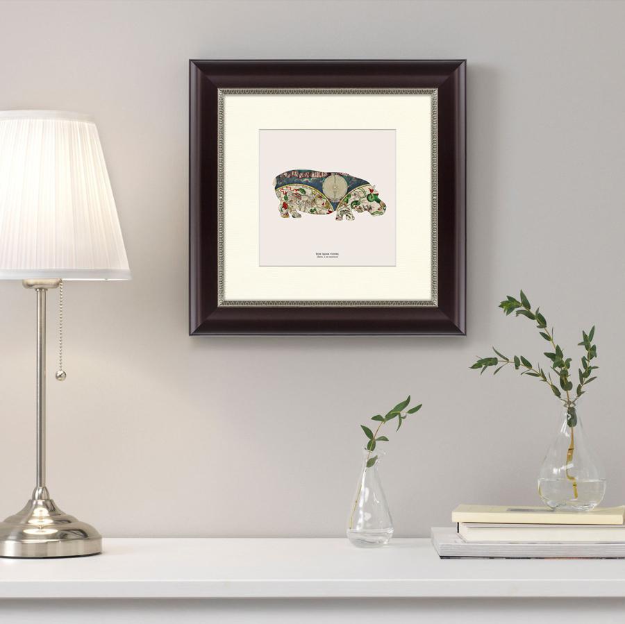 {} Картины в Квартиру Картина Бегемот (35х35 см) картины в квартиру картина вода деревья утро 102х130 см