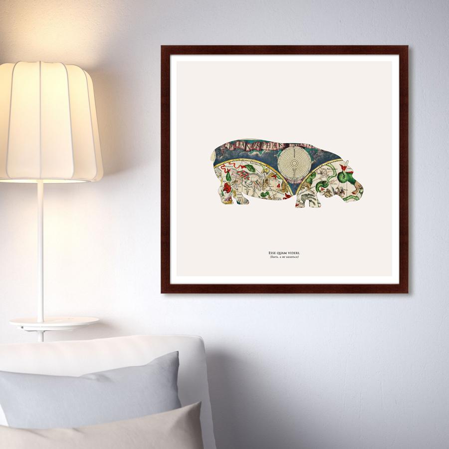 {} Картины в Квартиру Картина Бегемот (79х79 см) мне предлагают 1комнат квартиру