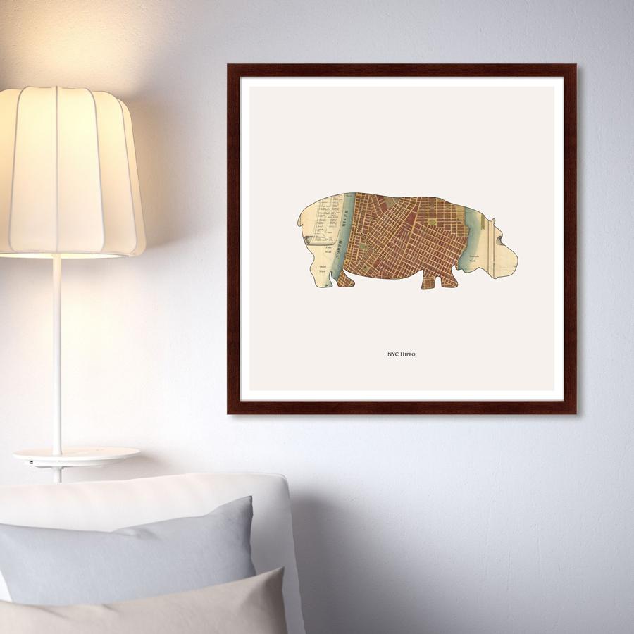 {} Картины в Квартиру Картина Hippo (79х79 см) картины в квартиру картина etude 3 102х130 см
