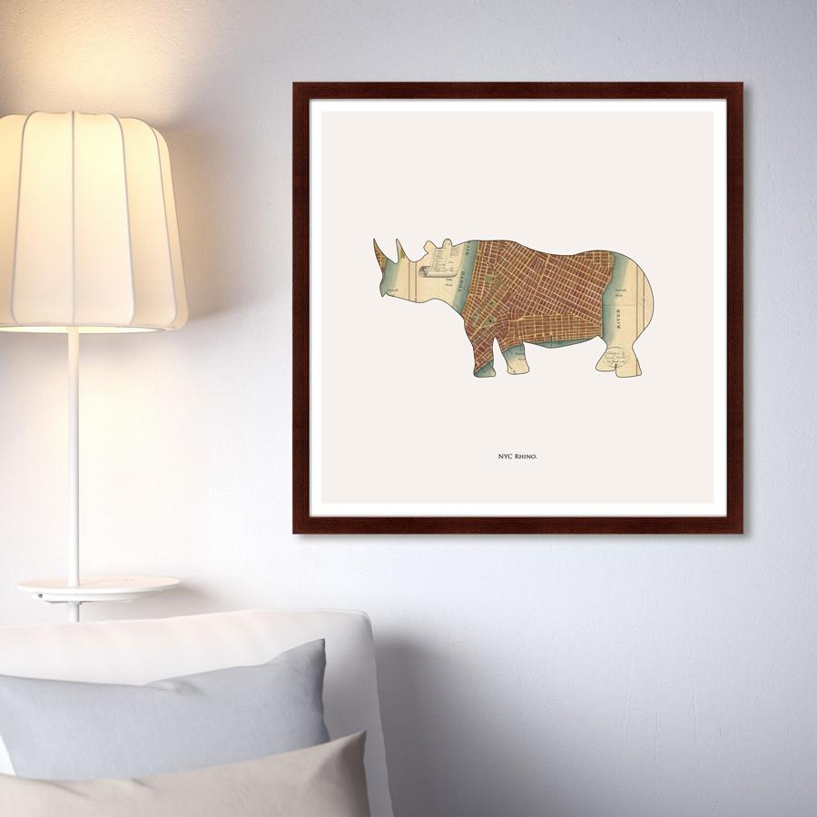 {} Картины в Квартиру Картина Rhino (79х79 см) картины в квартиру картина sunrise 35х77 см