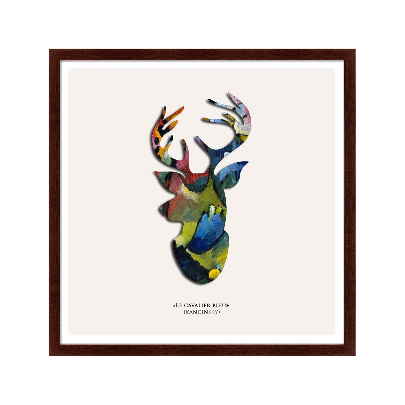 {} Картины в Квартиру Картина Олень Синий Всадник (79х79 см) картины в квартиру картина black square 2 79х79 см