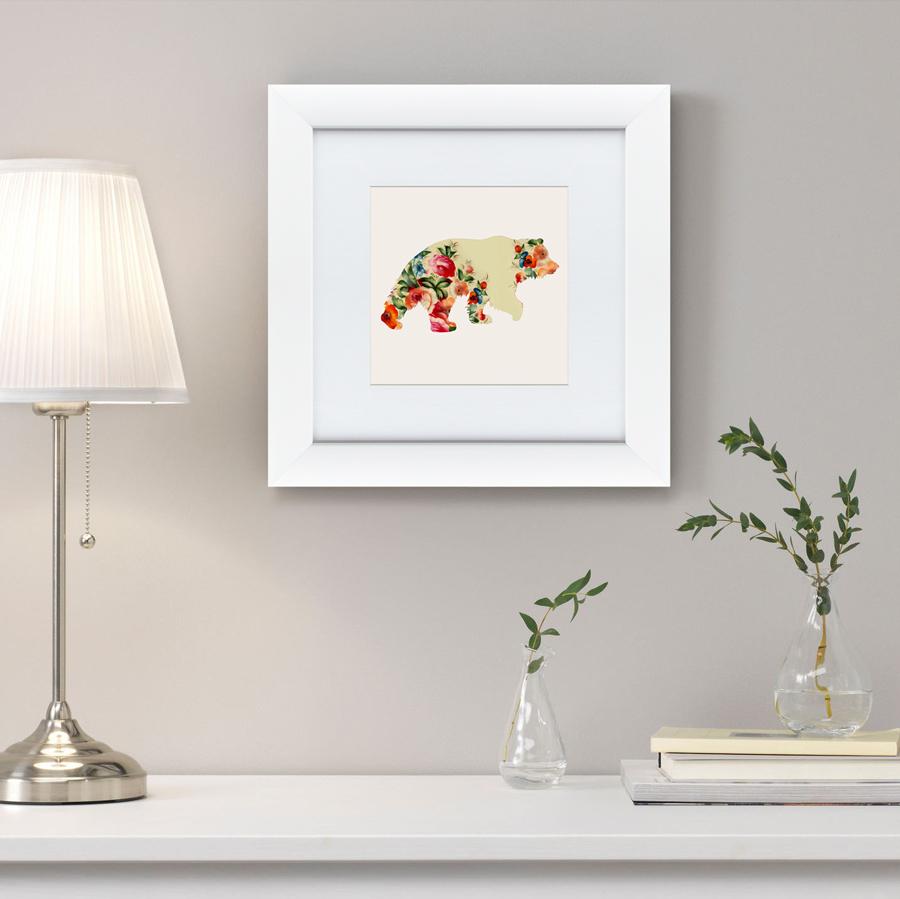 {} Картины в Квартиру Картина Русская Краса, Медведь В Цветах (35х35 см) картины в квартиру картина каллы 2 35х35 см