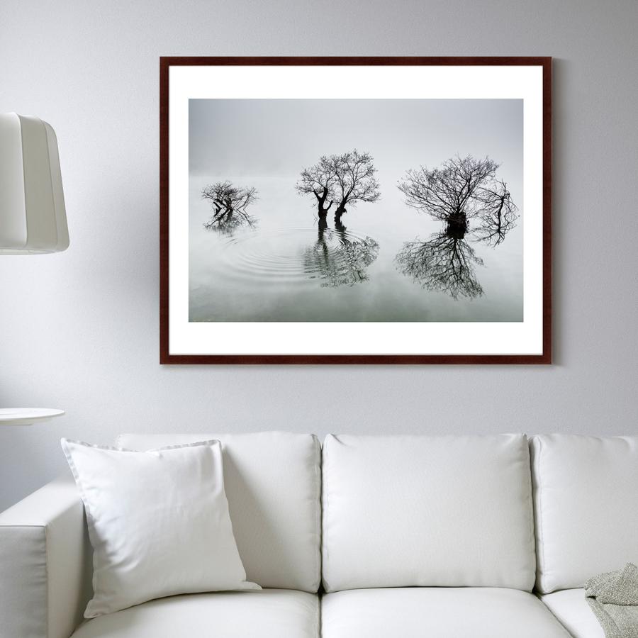 {} Картины в Квартиру Картина Вода, Деревья, Утро (102х130 см) картины в квартиру картина вода деревья утро 102х130 см