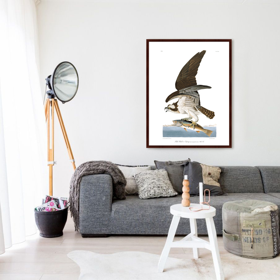 {} Картины в Квартиру Картина Орел-Рыбак (102х130 см) картины в квартиру картина вода деревья утро 102х130 см