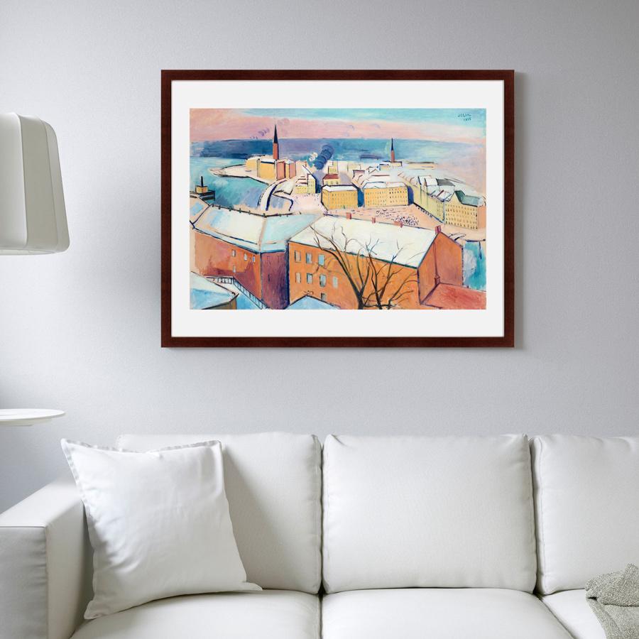 {} Картины в Квартиру Картина Зимний Стокгольм (79х100 см) картины в квартиру картина вода деревья утро 102х130 см