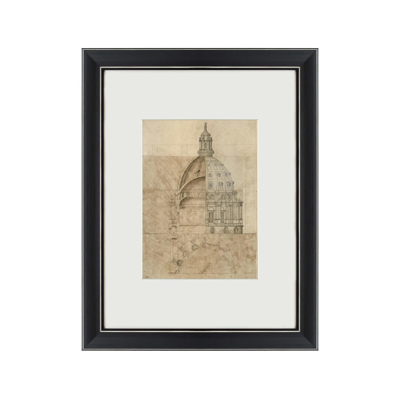{} Картины в Квартиру Картина Эскиз Собора Святого Павла (47х60 см) картины в квартиру картина цветная гравюра 2 47х60 см