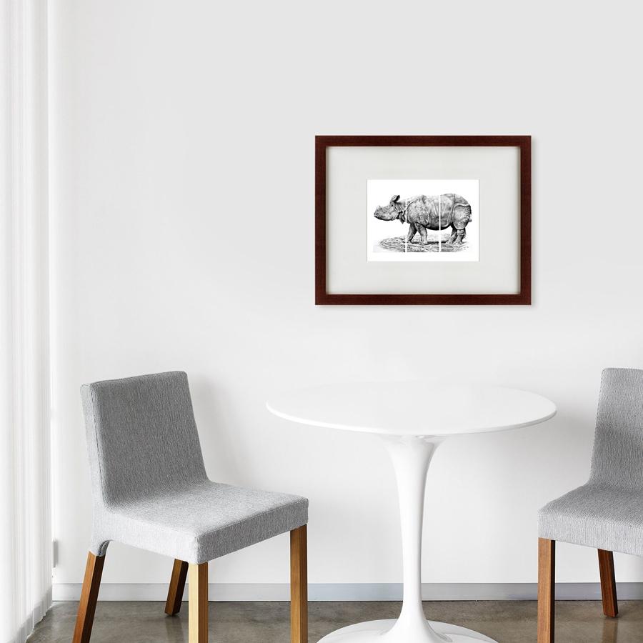 {} Картины в Квартиру Картина Носорог (47х60 см)
