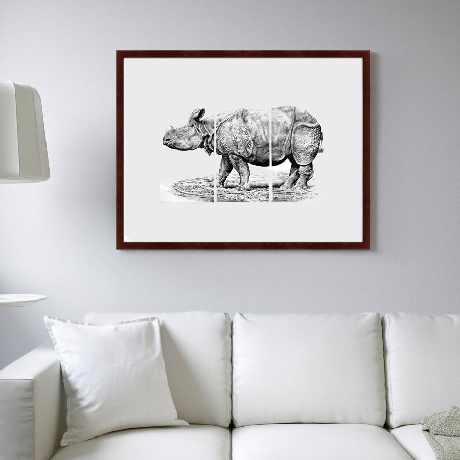 {} Картины в Квартиру Картина Носорог (79х100 см) картины в квартиру картина вектор 79х100 см