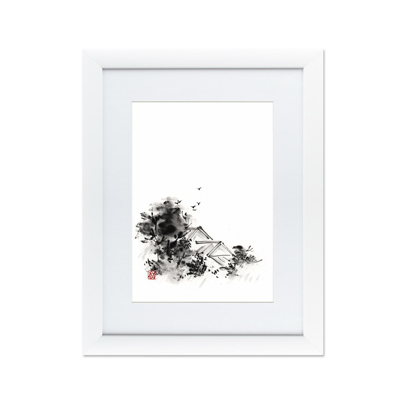 {} Картины в Квартиру Картина Японская Акварель Суми-э, №4 (47х60 см) картины в квартиру картина etude 2 102х130 см