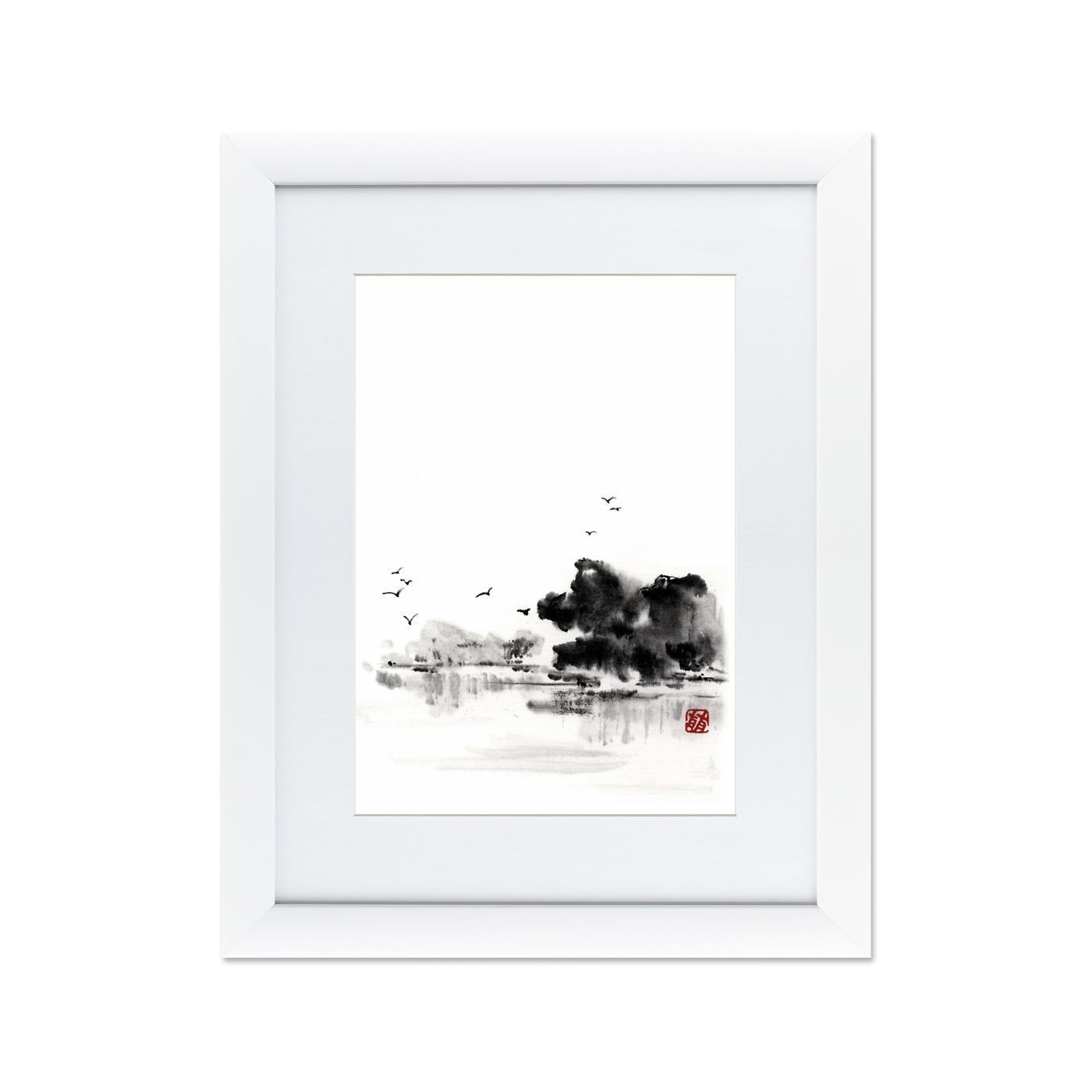 {} Картины в Квартиру Картина Японская Акварель Суми-э, №5 (47х60 см) картины в квартиру картина спил 2 47х60 см