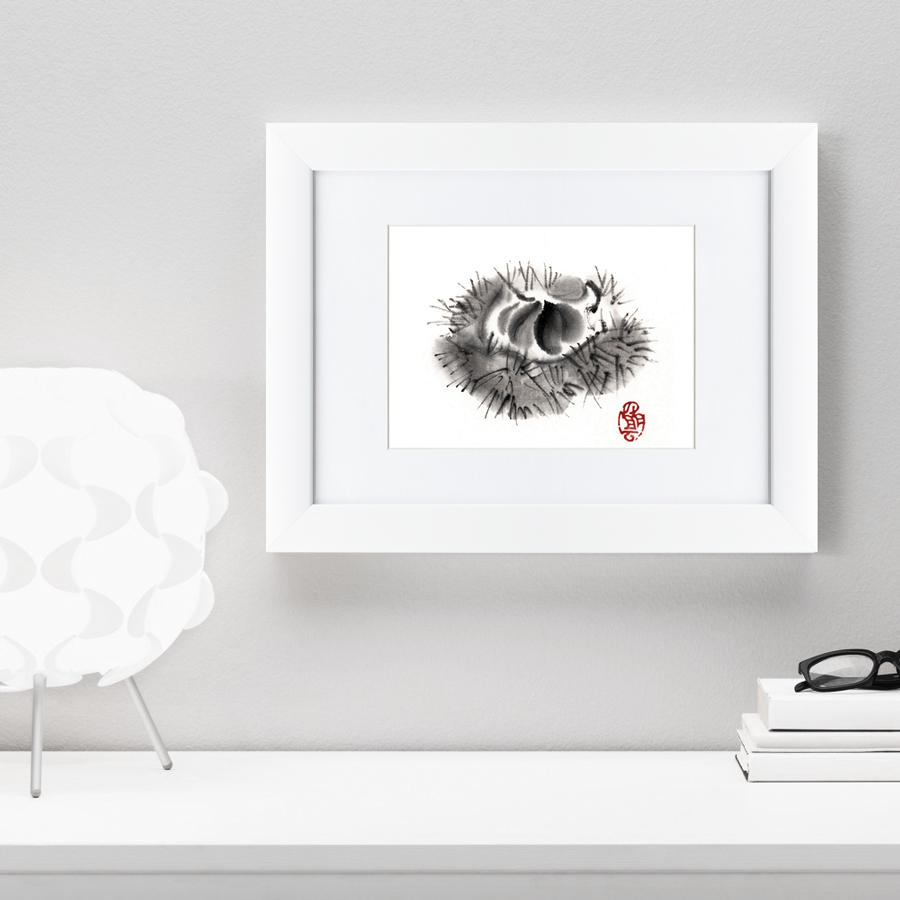 {} Картины в Квартиру Картина Японская Акварель Суми-э, Фрукт (35х45 см) картины в квартиру картина геометрия света 2 35х45 см