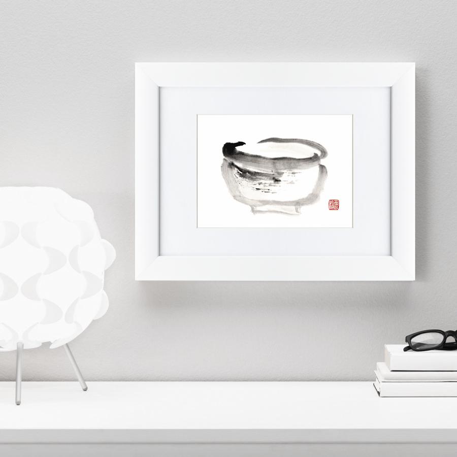 {} Картины в Квартиру Картина Японская Акварель Суми-э, Горшок (35х45 см) картины в квартиру картина олень 2 35х45 см