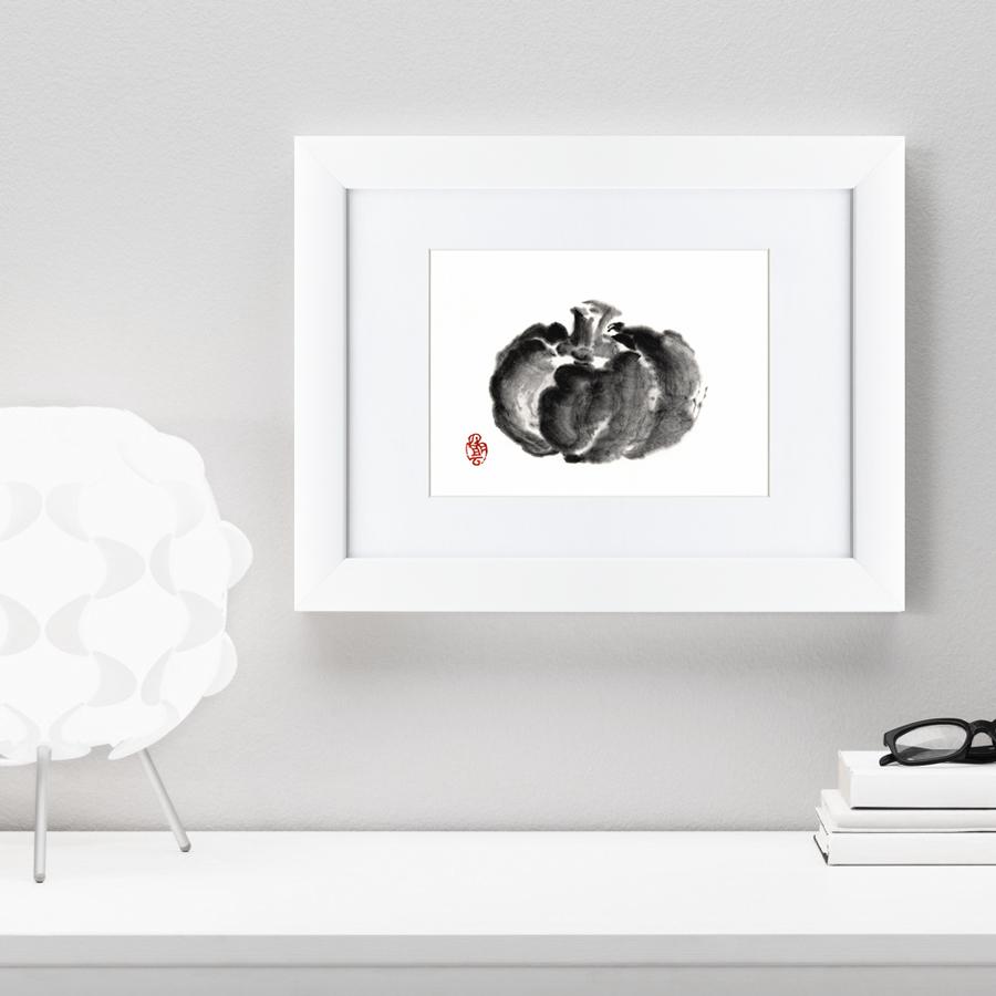 {} Картины в Квартиру Картина Японская Акварель Суми-э, Тыква (35х45 см) картины в квартиру картина геометрия света 2 35х45 см