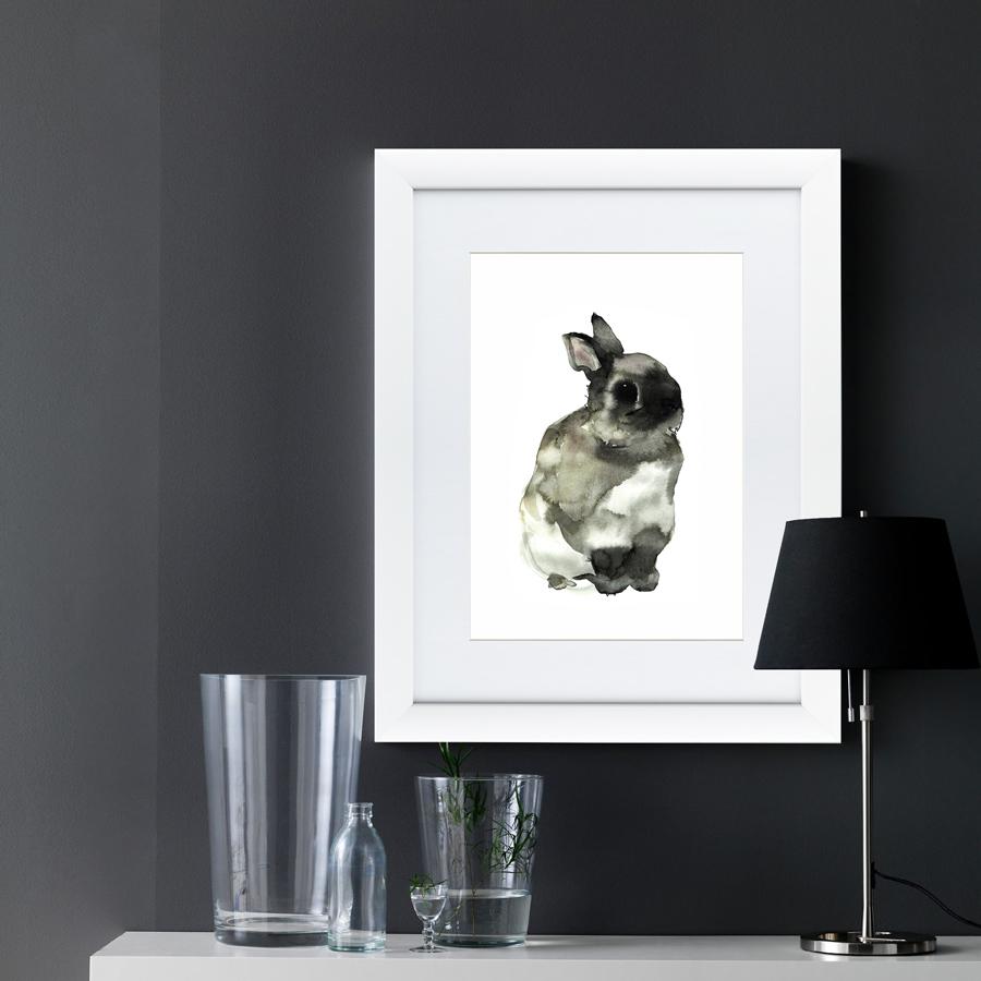 {} Картины в Квартиру Картина Японская Акварель Суми-э, Заяц (47х60 см) картины в квартиру картина спил 2 47х60 см