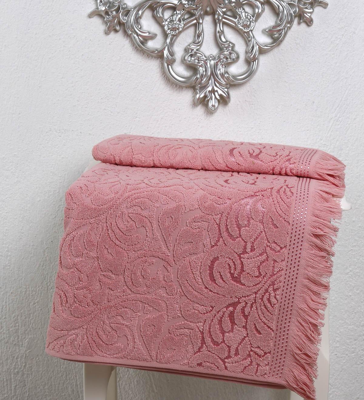 Полотенца Karna Полотенце Esra Цвет: Розовый (70х140 см) комплект махровых полотенец karna esra 50x90 70х140 см 1158865