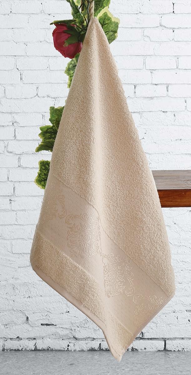 где купить  Полотенца Karna Полотенце Dora Цвет:  Абрикосовый Абрикосовый (70х140 см)  по лучшей цене