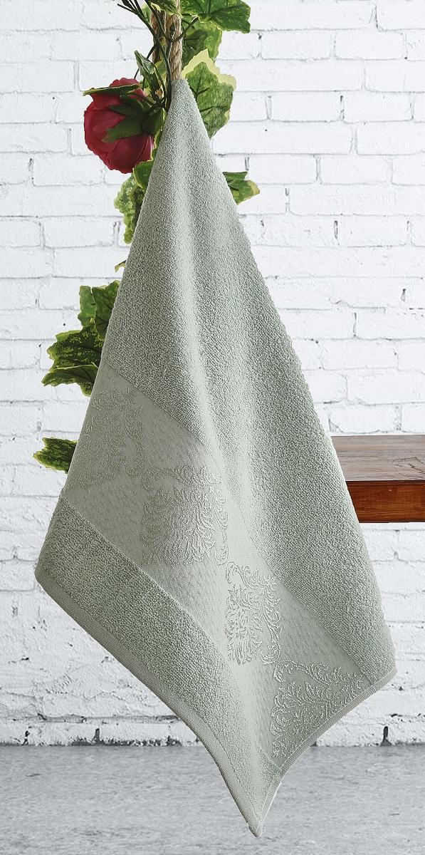 где купить  Полотенца Karna Полотенце Dora Цвет:  Зеленый Зеленый (70х140 см)  по лучшей цене