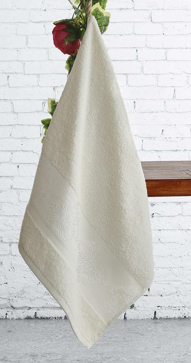 где купить  Полотенца Karna Полотенце Dora Цвет:  Кремовый Кремовый (70х140 см)  по лучшей цене