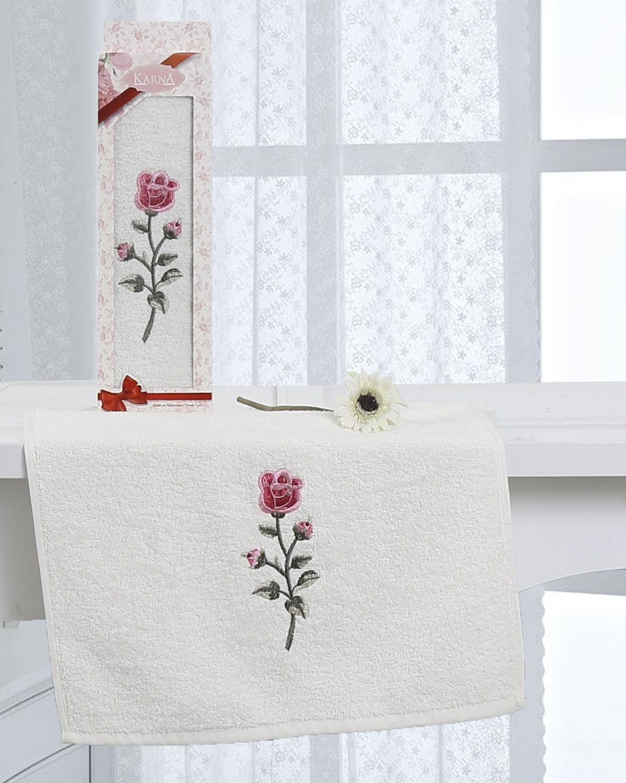 Полотенца Karna Полотенце Hevin Цвет: Кремовый (40х60 см)