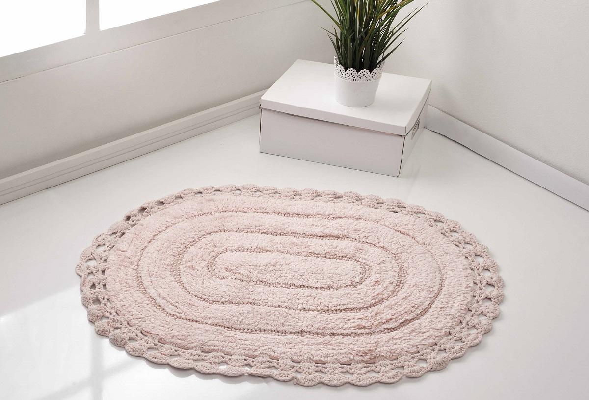 цена  Аксессуары для ванной и туалета Modalin Коврик для ванной Yana Цвет: Розовый (50х70 см)  онлайн в 2017 году