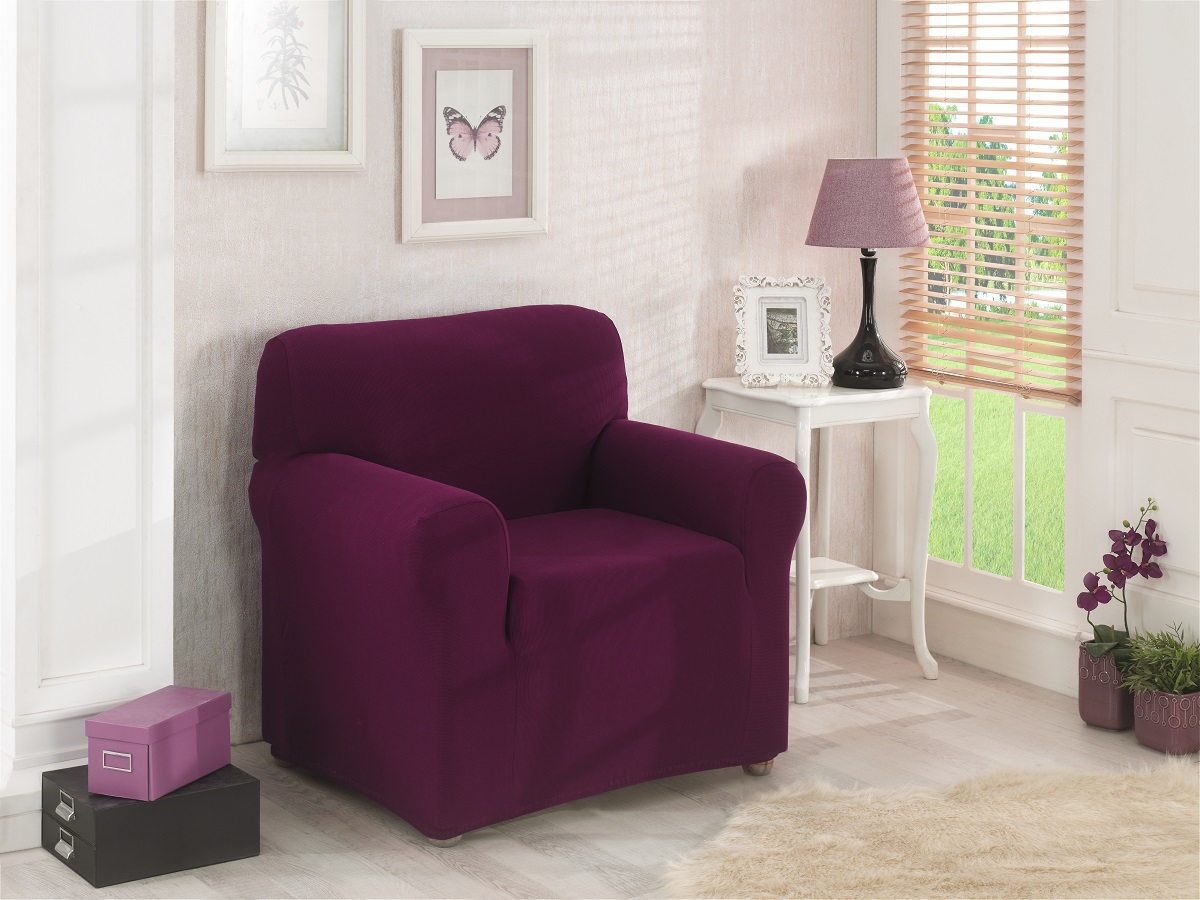 {} Karna Чехол для мебели Napoli Цвет: Бордовый (Одноместный) karna karna чехол на диван угловой цвет коричневый