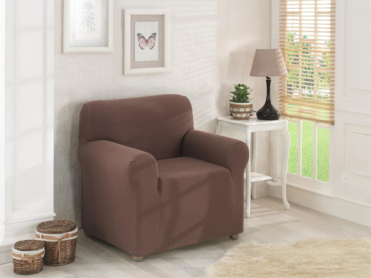 {} Karna Чехол для мебели Napoli Цвет: Коричневый (Одноместный) karna karna чехол на диван угловой цвет коричневый