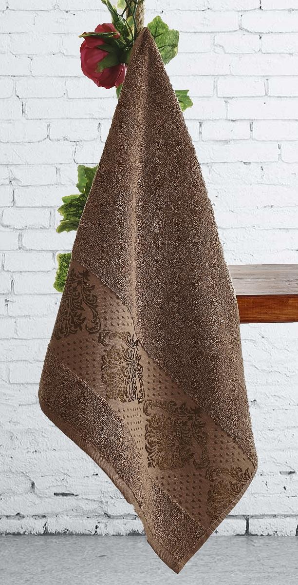 где купить  Полотенца Karna Полотенце Dora Цвет: Коричневый (50х90 см)  по лучшей цене