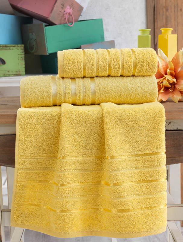Полотенца Karna Полотенце Jasmin Цвет: Желтый (70х140 см) полотенце karna цвет желтый