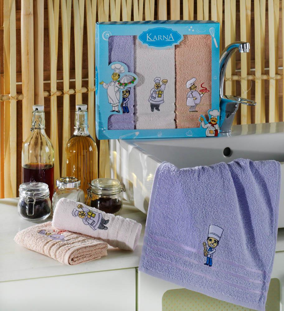 {} Karna Кухонное полотенце Savon (30х50 см - 3 шт) удалитель запахов alessi savon du chef fgo04