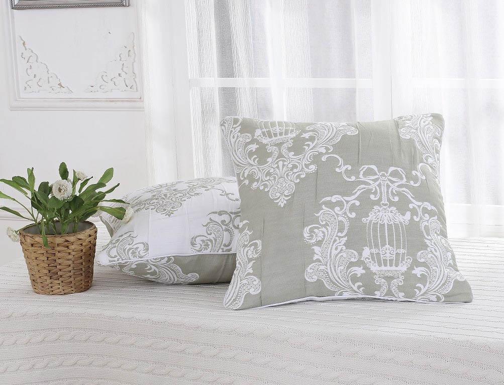 где купить  Декоративные подушки Cleo Декоративная наволочка Newbury Цвет: Оливковый (45х45)  по лучшей цене