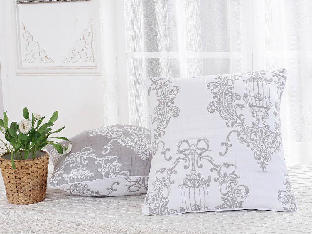 где купить  Декоративные подушки Cleo Декоративная наволочка Newbury Цвет: Серый (45х45)  по лучшей цене