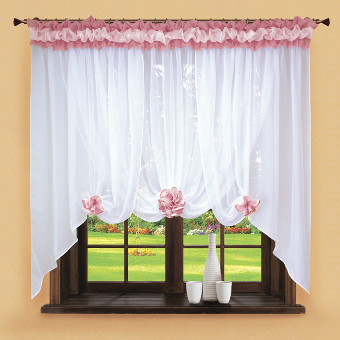 Шторы РеалТекс Классические шторы Neville Цвет: Брусника