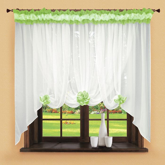Шторы РеалТекс Классические шторы Neville Цвет: Зеленое Яблоко