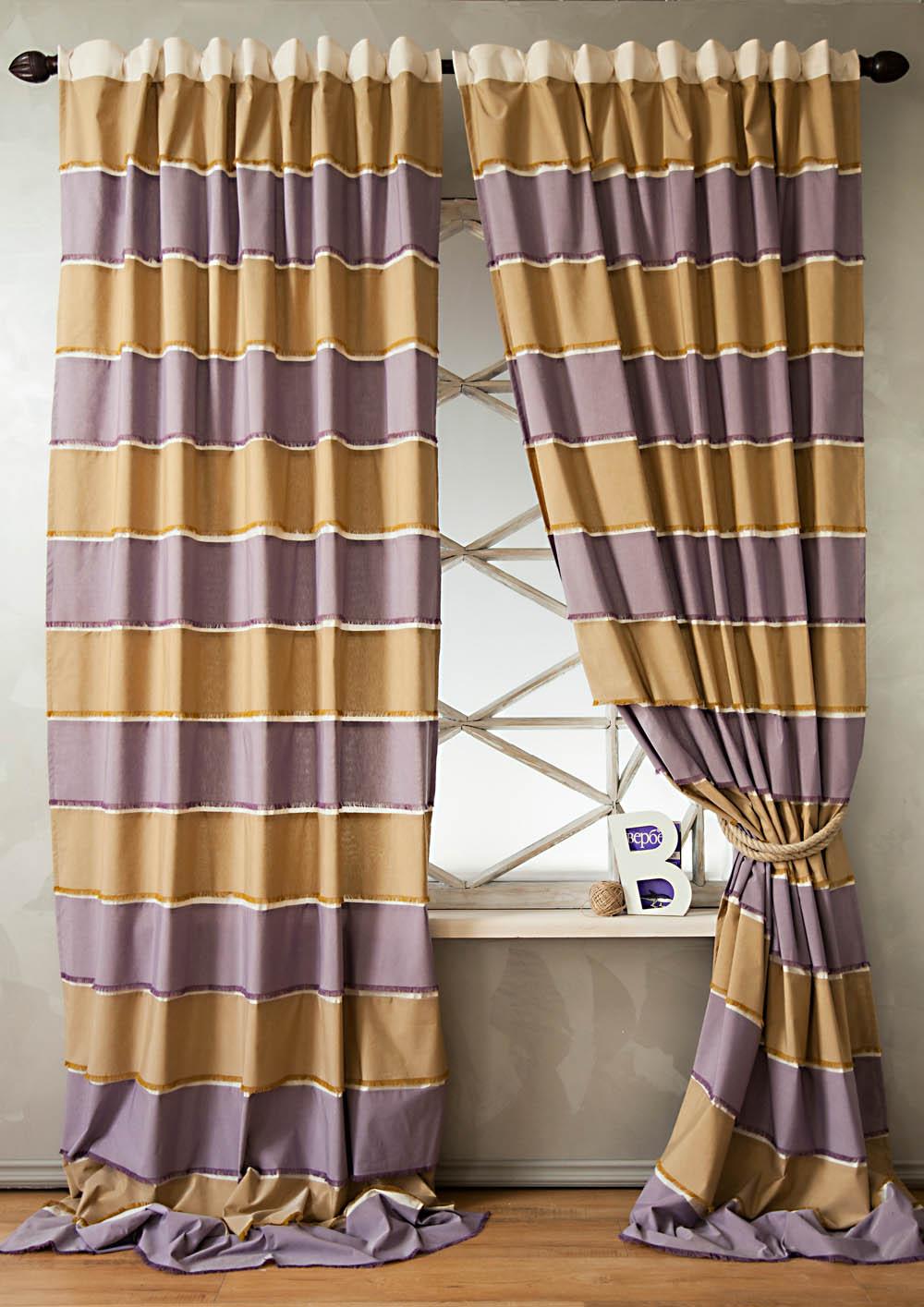 Фотография PASIONARIA Классические шторы Калифорния Цвет: Бежево-Сиреневый