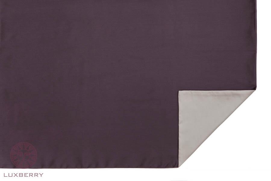 где купить  Наволочки Luxberry Наволочка Duetto 4 Цвет: Баклажан/Серо-Бежевый (70х70)  по лучшей цене