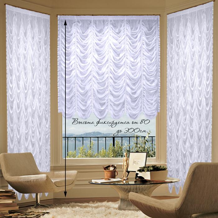 Шторы РеалТекс Французские шторы Innes Цвет: Белый реалтекс реалтекс классические шторы akina цвет бежевый бордовый