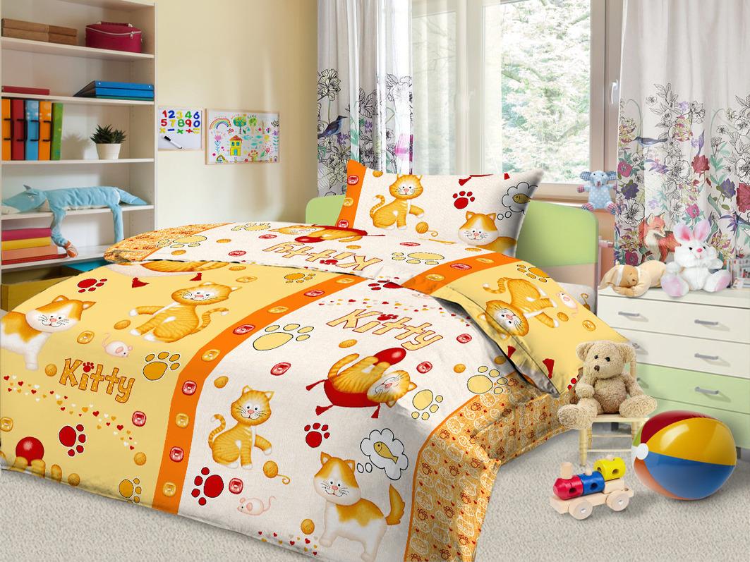 Детское Постельное белье Cleo Детское Постельное белье Kitty Цвет: Желтый (112х147 см) детское постельное