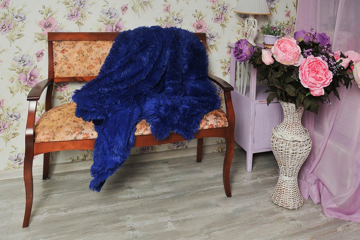 где купить Плед Cleo Плед Конфетти Цвет: Синий (220х240 см) по лучшей цене