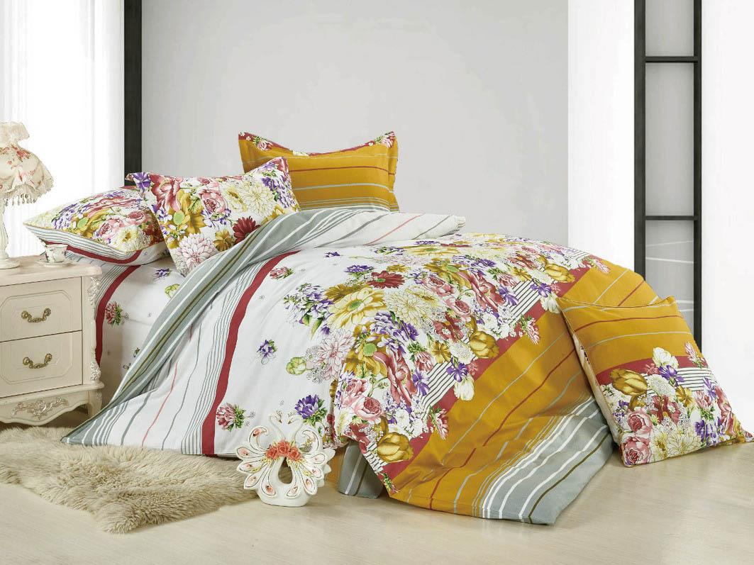 Постельное белье Cleo Постельное белье Dennis  (2 сп. евро) постельное белье амалия розовый бязь евро 1