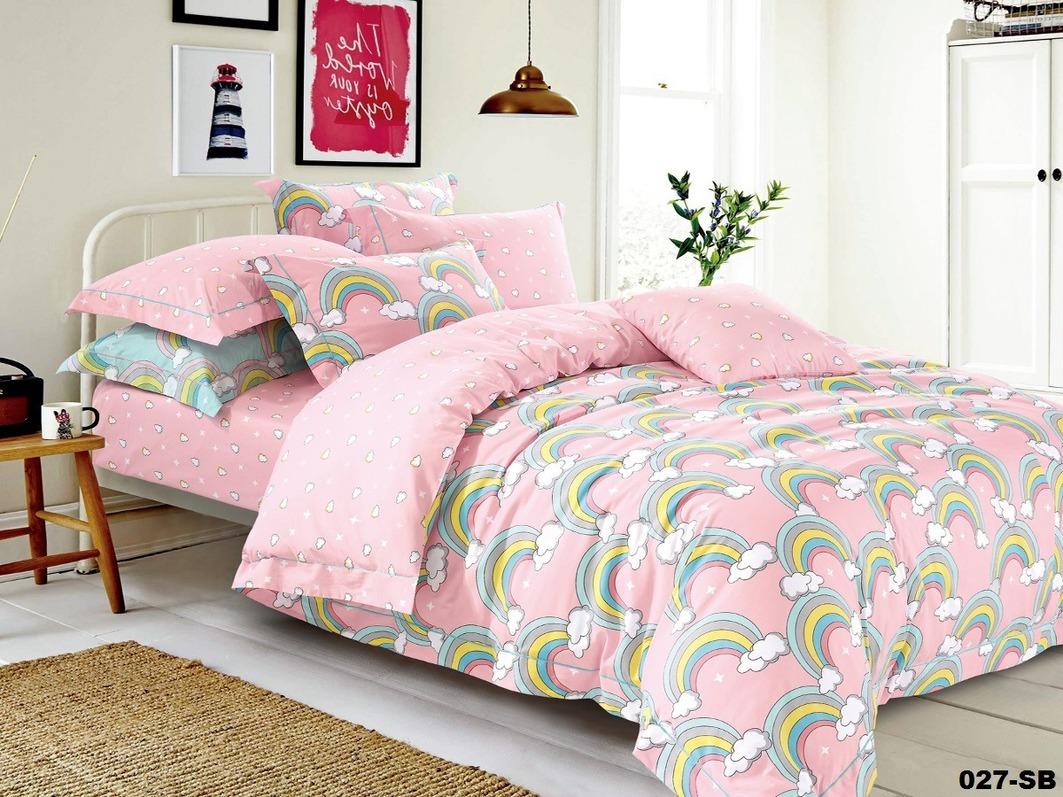 где купить Детское Постельное белье Cleo Детское Постельное белье Радуга Цвет: Розовый (112х147 см) по лучшей цене