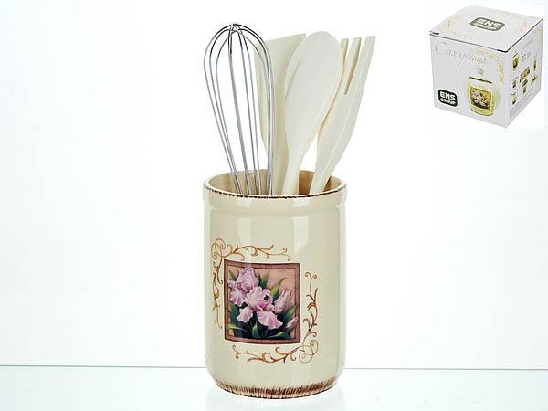 {} ENS GROUP Подставка для столовых приборов Розовый Ирис (10х14 см) сахарница ens group розовый ирис 450 мл
