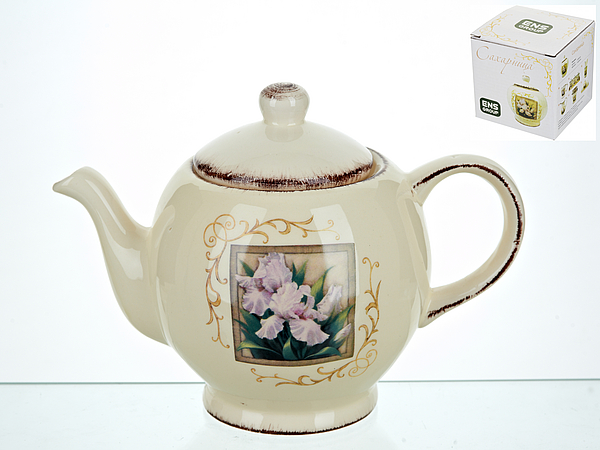 {} ENS GROUP Заварочный чайник Розовый Ирис (13х17 см) сахарница ens group розовый ирис 450 мл