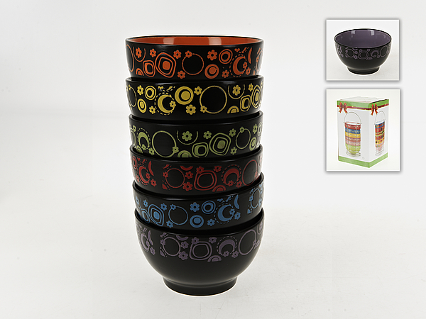 {} ENS GROUP Салатник Цветочный Калейдоскоп (8х14 см - 6 шт) салатник с крышкой ens group танго магнолия 1 6 л