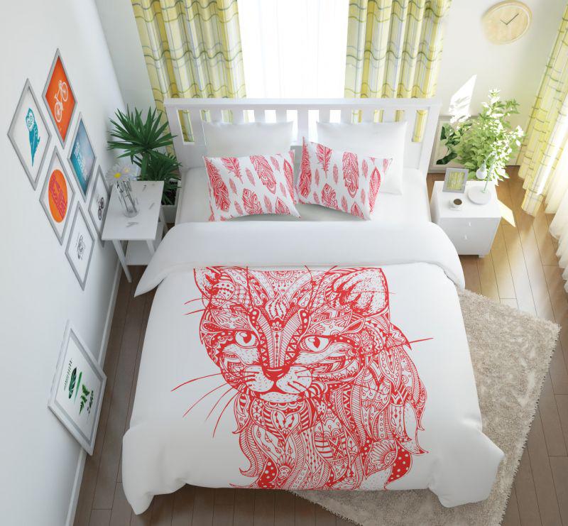 Постельное белье Сирень Постельное белье Волшебный Кот (семейное) постельное белье сирень постельное белье евро кпб волшебный кот