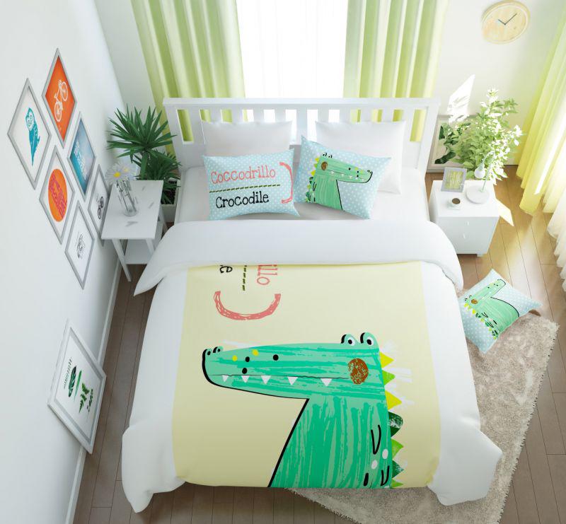 Постельное белье Сирень Постельное белье Счастливый Крокодил (семейное) постельное белье сирень постельное белье фонотека семейное