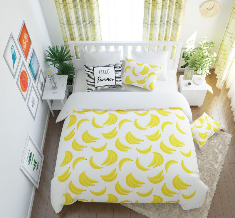 Постельное белье Сирень Постельное белье Бананас (2 сп. евро) постельное белье сирень постельное белье евро кпб рай