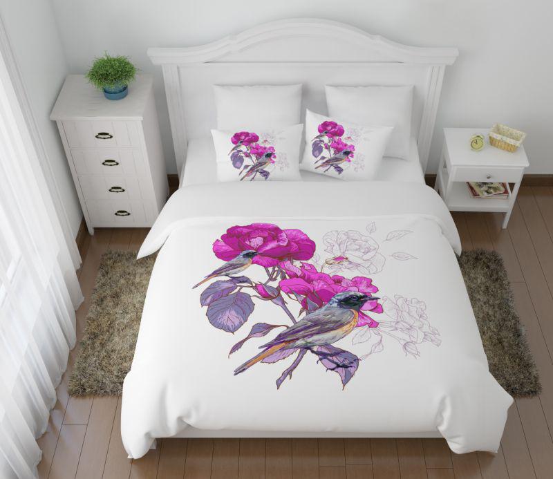 Постельное белье Сирень Постельное белье Вилюта (2 сп. евро) постельное белье сирень постельное белье евро кпб рай